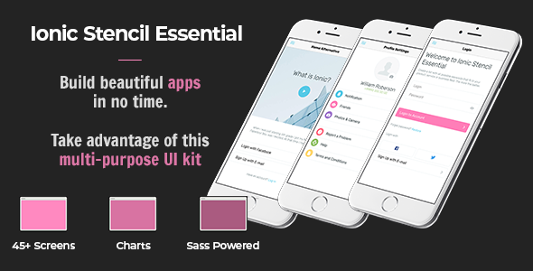Free Download] Ionic Stencil Essential - UI Kit for Ionic 3