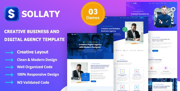 Free Download Sollaty Business Template It Services Agency